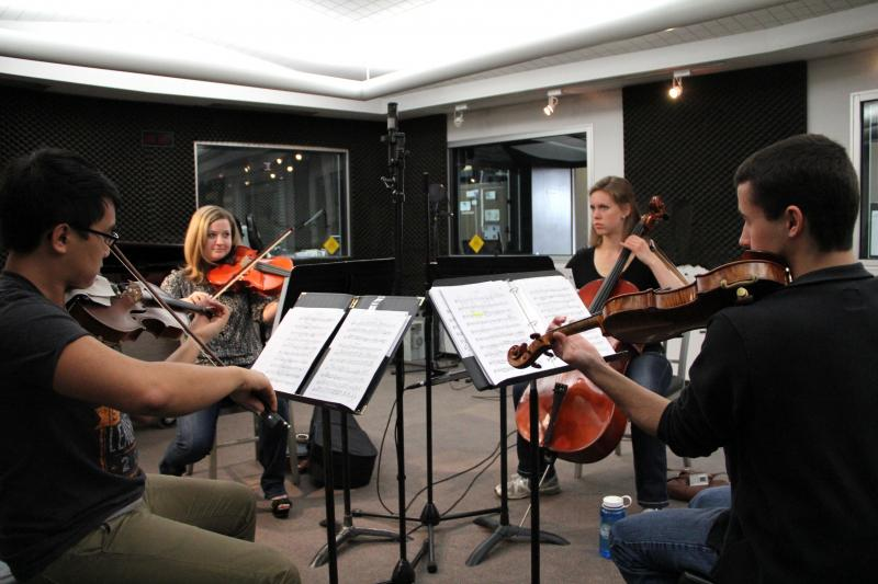 The Fresno Pacific University String Quartet performs on Young Artists Spotlight