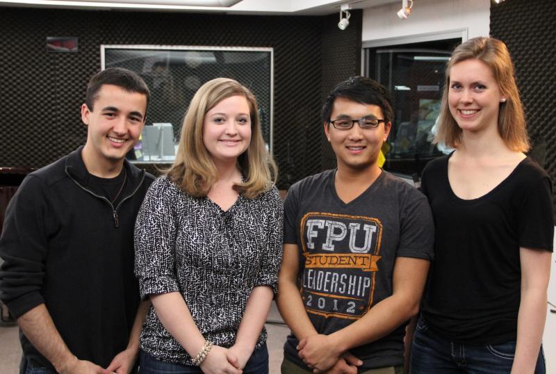 Fresno Pacific University's String Quartet: Maxton Viera, Valerie DeFehr, Blong Vang, and Alison Ens