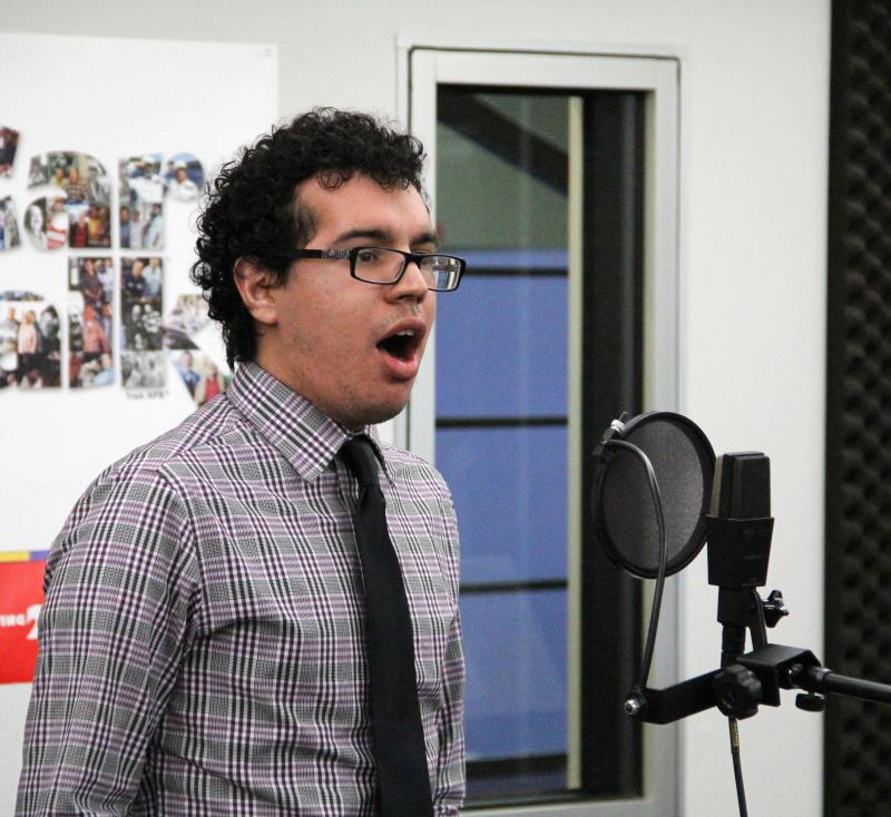 Fresno Pacific University vocalist Michael Villarreal