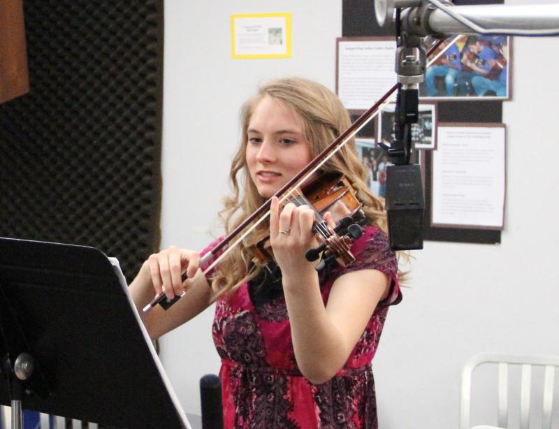 Violinist Kara McCoy performs on FM89's Young Artists Spotlight