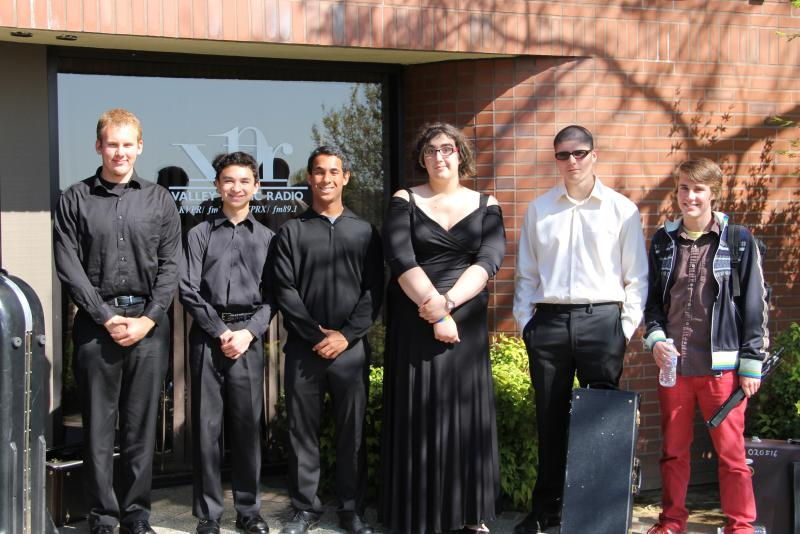Members of the Gigabyte Brass Quartet and Gigabyte Woodwind