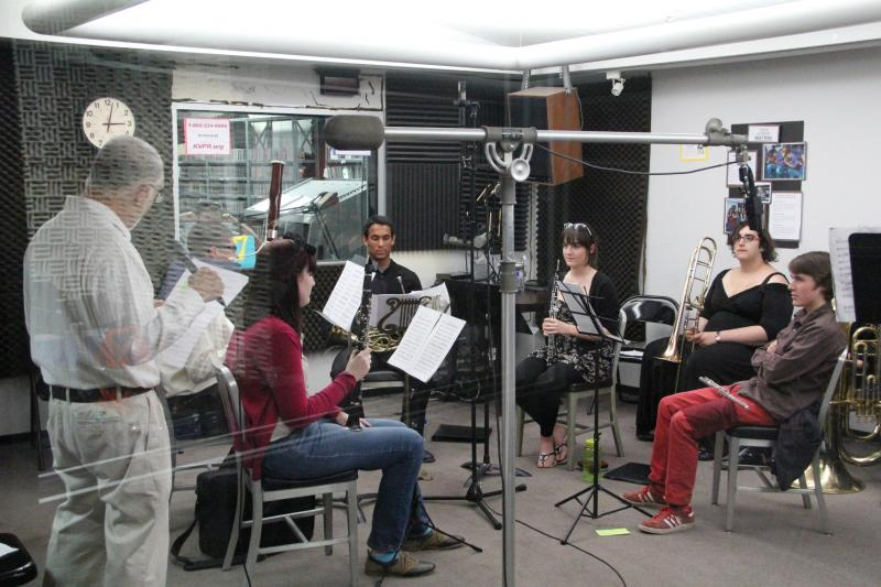 Members of the Gigabyte Brass Quartet and Gigabyte Woodwind performed on Young Artists Spotlight