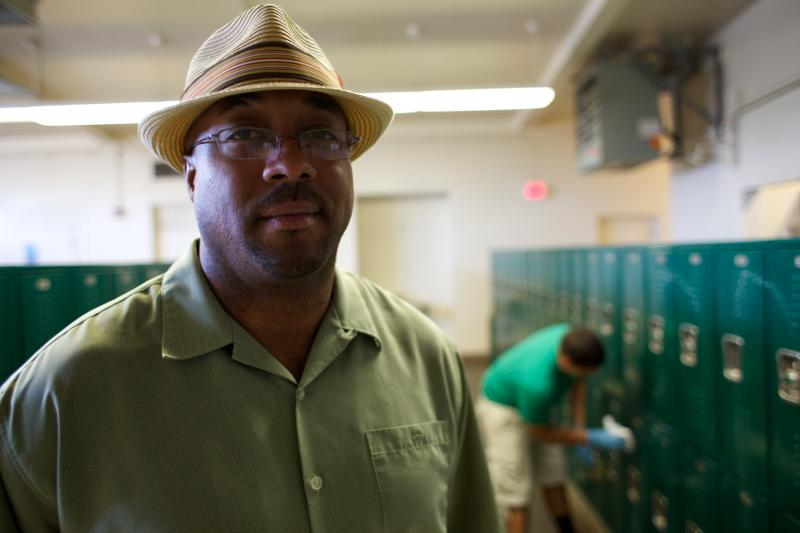 Andre Griggs coordinates the restorative justice program at Le Grand High School.