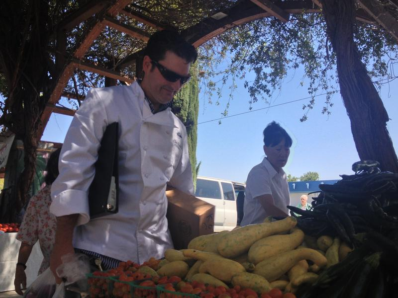 Chris Shakelford, owner of Trelio in Clovis, visits farmstands and markets five days a week.
