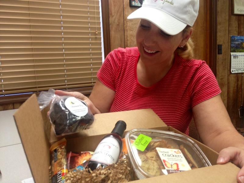 K.C. Pomering with G-Free Foodie puts together a monthly gluten free box with local ingredients.