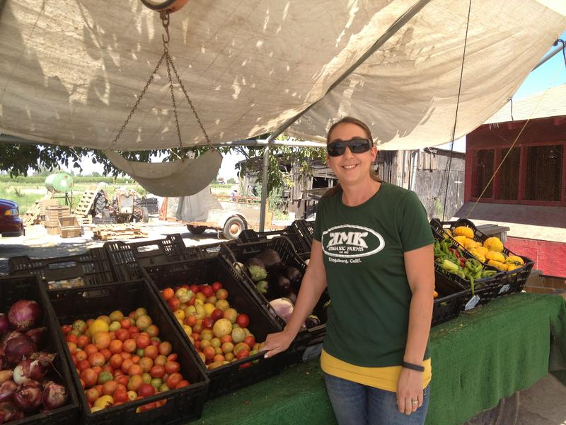 Kristi Bravo runs The Farmer's Daughter CSA, utilitizing produce from KMK Farms.