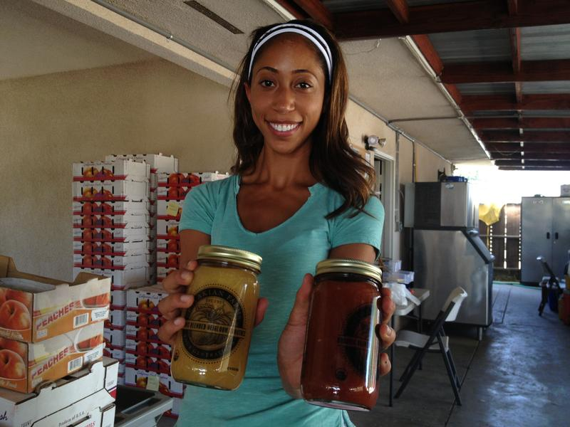 Amber Balakian makes her Organic Blended Heirloom Tomatoes from the tomatoes grown on her family's Reedley farm.