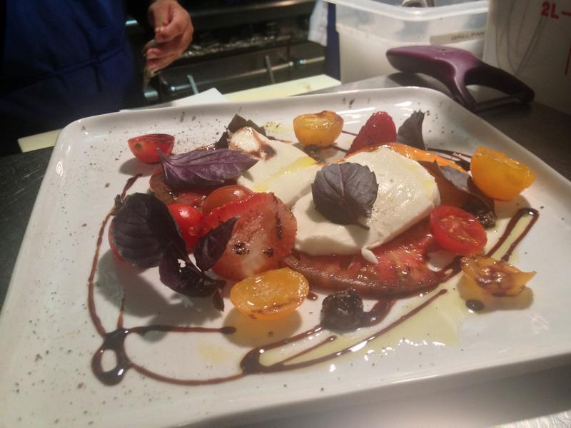 Trelio Chef Chris Shakelford created this dish based on Tower Urban Family Farms tomatoes.