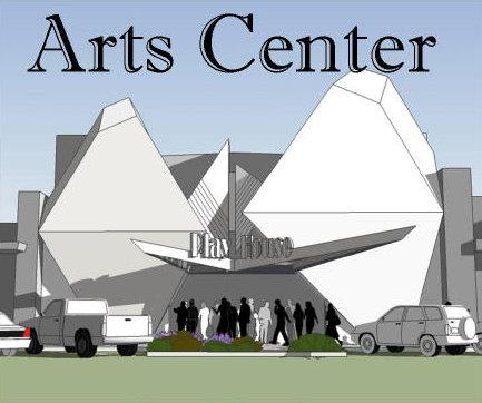An artists rendering of the Arts Center