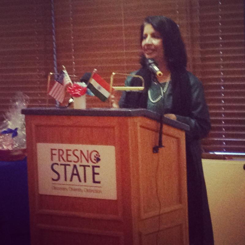 Rao spoke to a group on campus about India-U.S. relations.