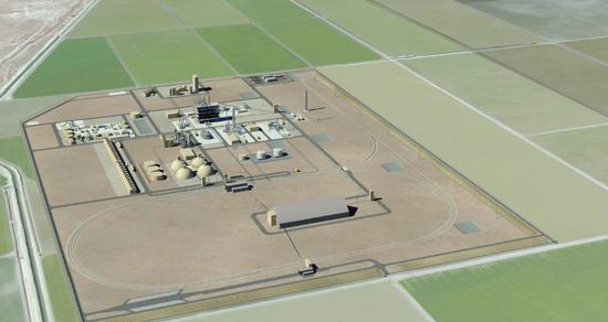 A rendering of the proposed HECA plant in Tupman.