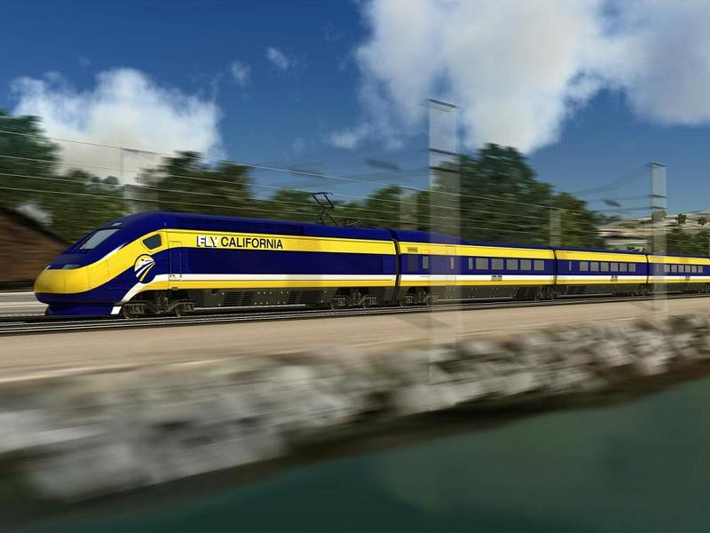 A rendering of the state's planned high speed trail.