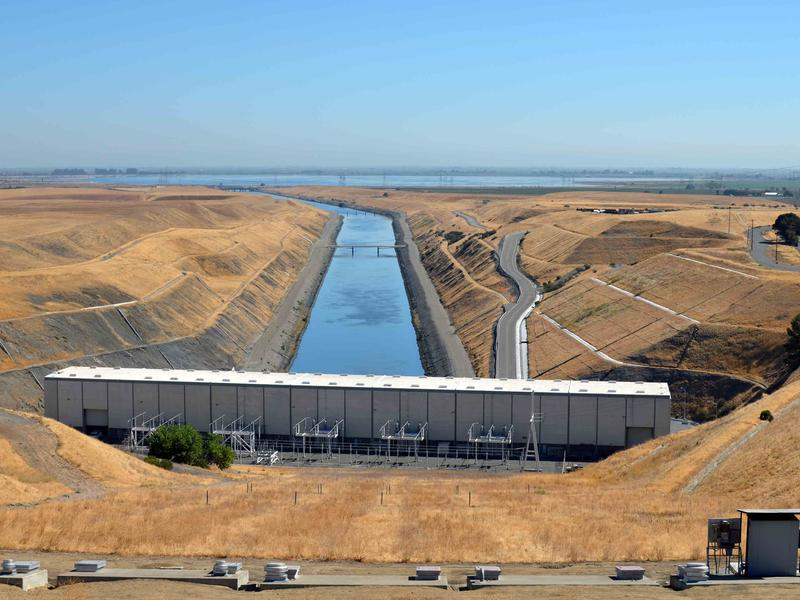 The Harvey O. Banks Pumping Plant near Tracy, CA in the Delta