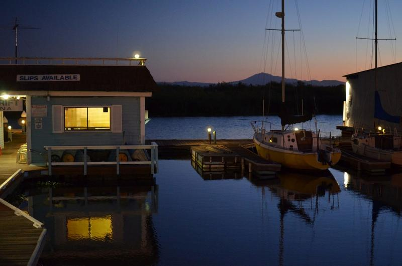 Spindrift Marina at night