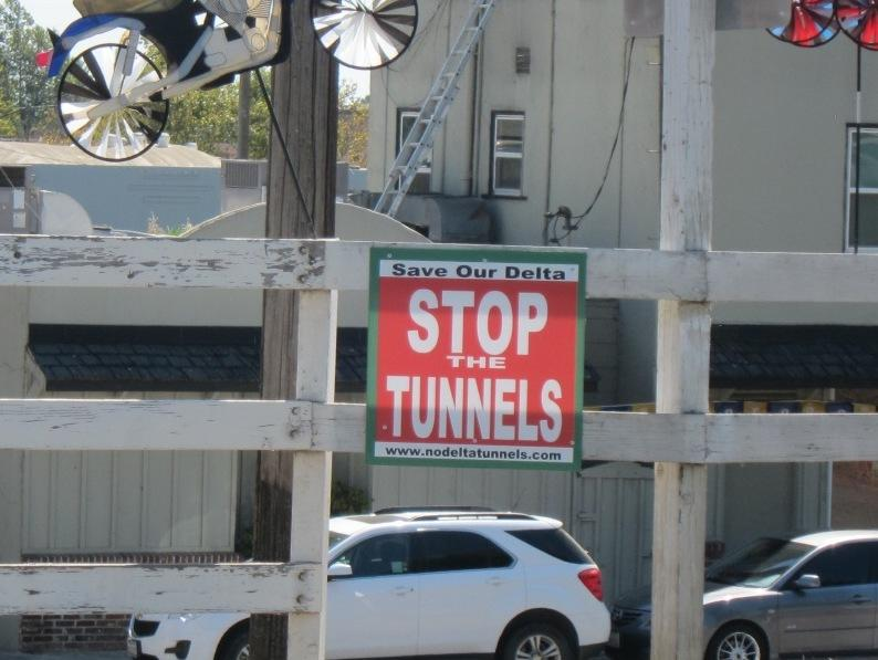 Stop the Tunnels Sign