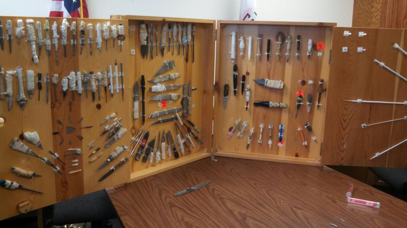 Inmate made weapons found in Pelican Bay State Prison over the years.