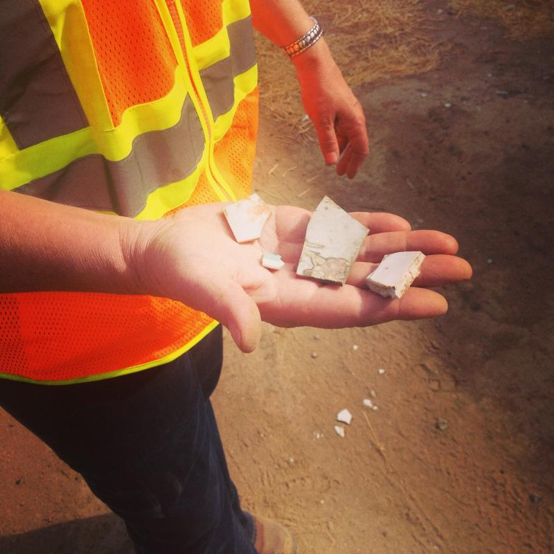 Archaeologist Dana McGowan found pieces of Chinese history all throughout the plot on Tulare and F streets.