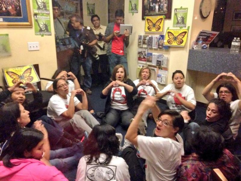 Protestors occupy the office of Congressman Kevin McCarthy in Bakersfield