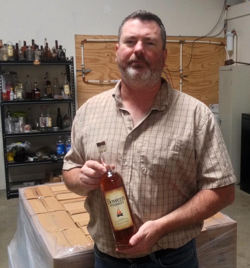 Wade Bowen began producing whiskey less than two eyars ago.