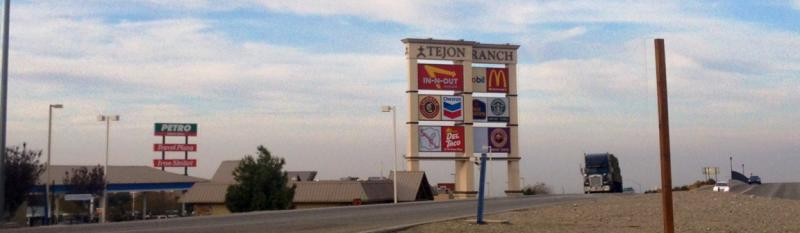 Tejon Ranch Commerce Center is a major stop for tourists as well truck drivers at distribution centers.