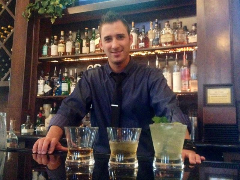 Trevor Hickman a bartender at Piazza Del Pane says Bowen's Whiskey can be an easier sell to those who usually prefer a lighter, smoother whiskey.