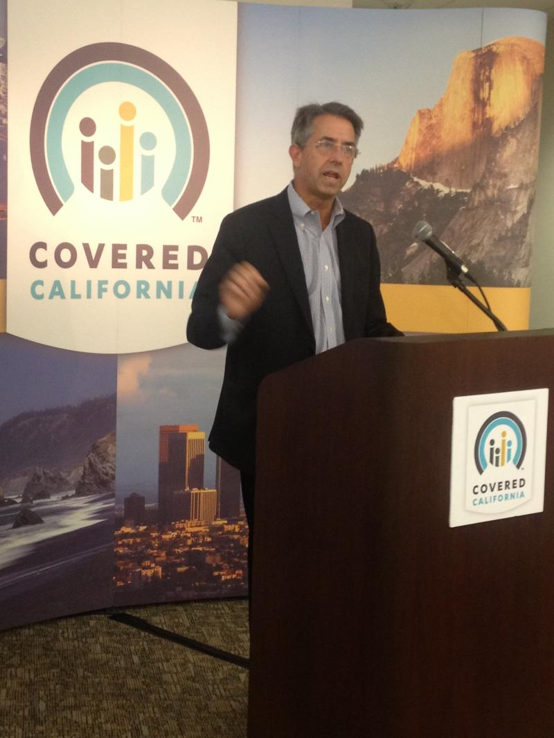 Peter Lee, executive director of Covered California, visited the new call center in Fresno.