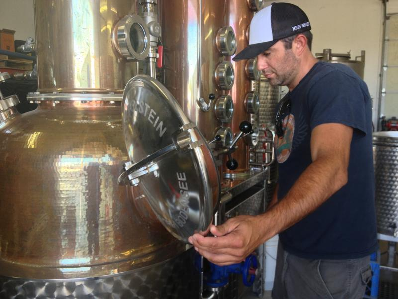 David Souza and his team of three create what he calls Corbin Vodka named after his son.