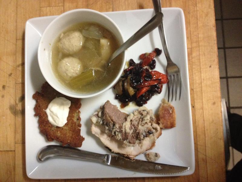Andy Karsh's meal combines the culinary traditions of Thanksgiving and Hannukah.
