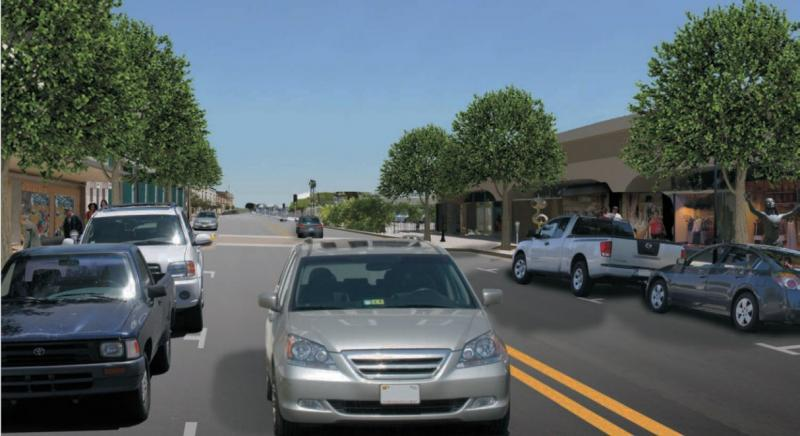 A photo illustration of what the future Fulton Street may look like, between Inyo and Kern