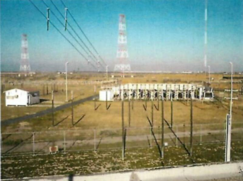 A photo of some of the radio towers at the 800 acre site west of Delano at 11015 Melcher Road.