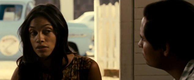 Rosario Dawson plays the farm labor activist Dolores Huerta