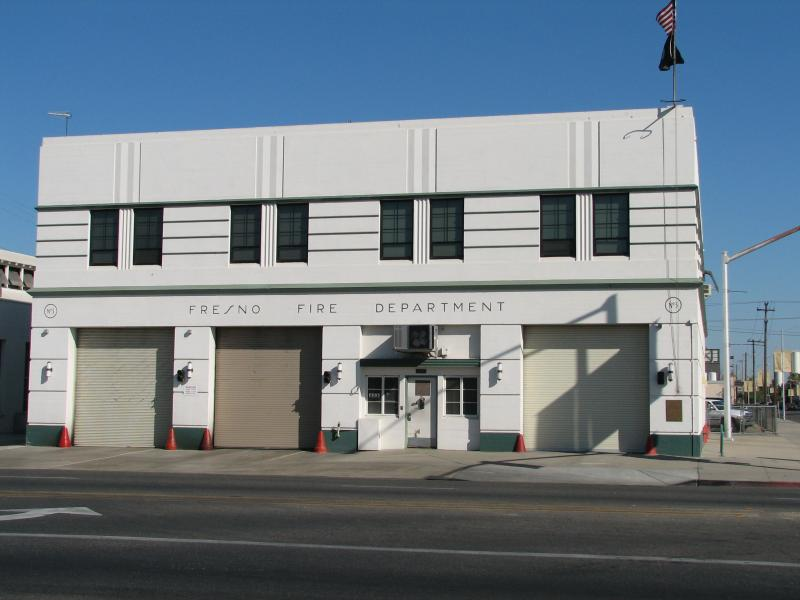 Fresno's Fire Station No. 3 is a fine yet simple example of Art Deco design