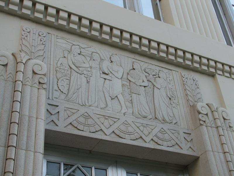 Fresno's County Hall of Records has some of the most impressive Art Deco sculptural reliefs in the San Joaquin Valley
