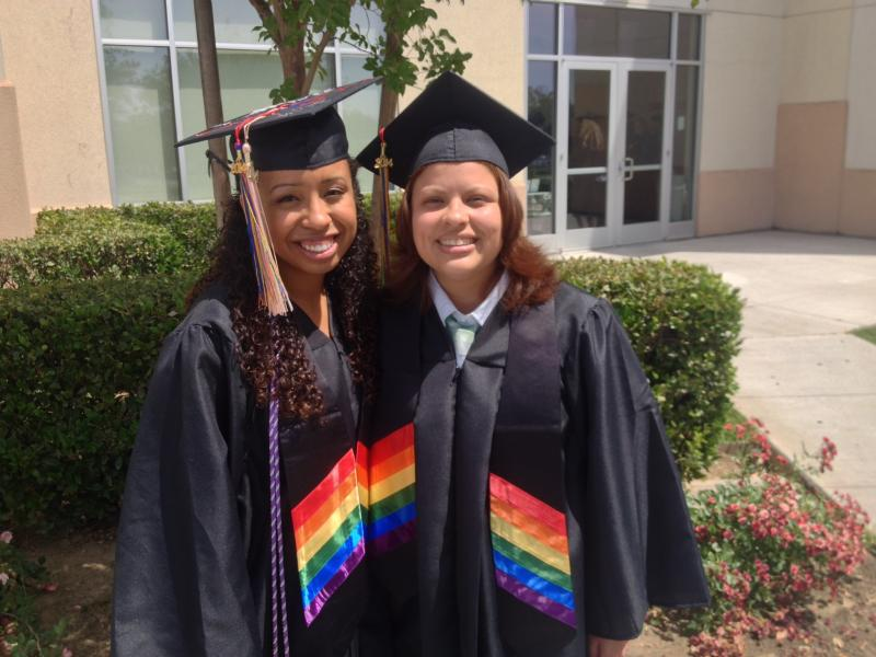 Dausha Del Carmen and her girlfriend Esmerelda Licea both graduated at the LGBTQ+ commencement.