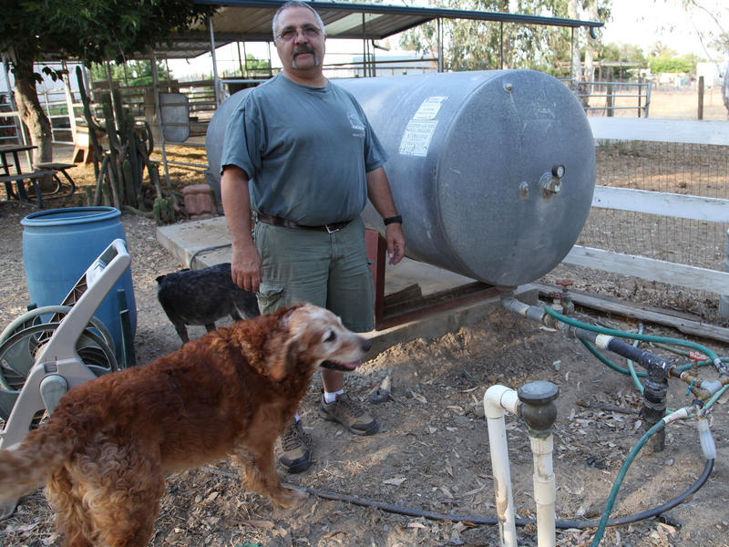 Victor Bruno's 300-foot well is running dry in Madera County.