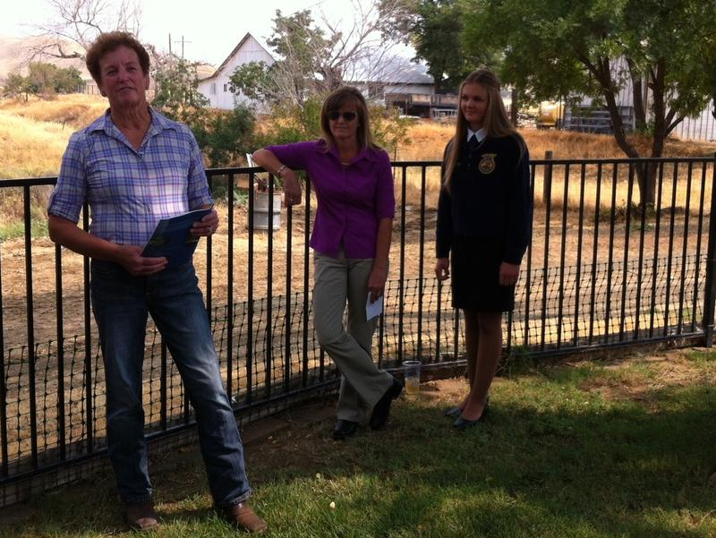 Mary Wells (left), her daughter (center) and her granddaughter (right) - the 5th, 6th and 7th generations of the family to live on the family's Colusa County ranch.