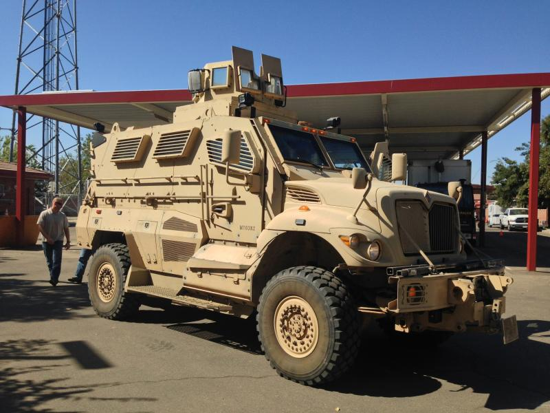 Clovis PD received their MRAP last September and have used it sparingly, says Captain Mike Casida.