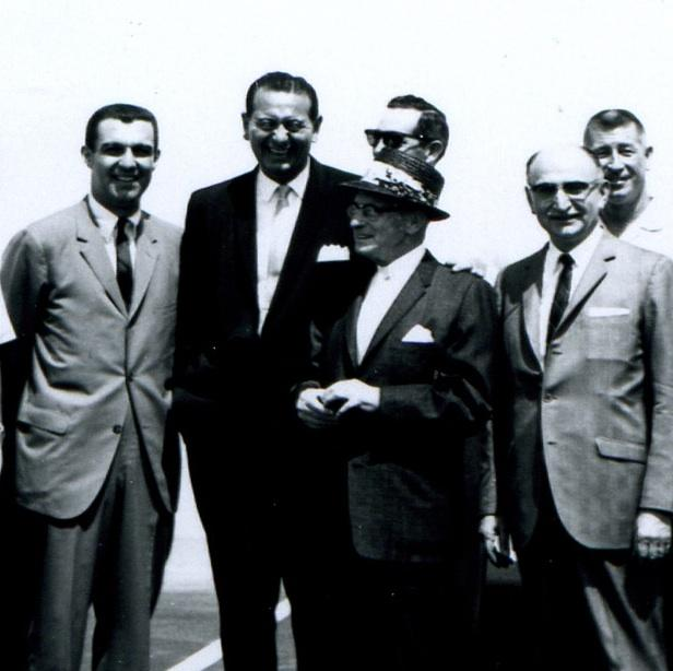 Malcom Gladwell has called Victor Gruen (center with hat) perhaps the most influential architect of the 20th century. Fresno hired the man who invented the shopping mall to remake downtown.