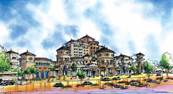 A rendering of the proposed casino near Madera