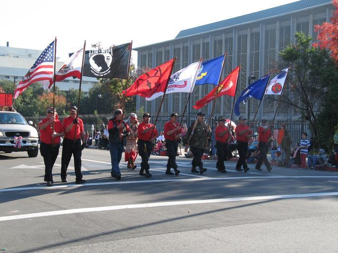 Some of the veterans marching in the Fresno Veterans Day Parade.