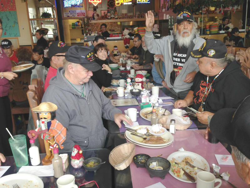 Every Friday this group of veterans gets together for breakfast and camaraderie.