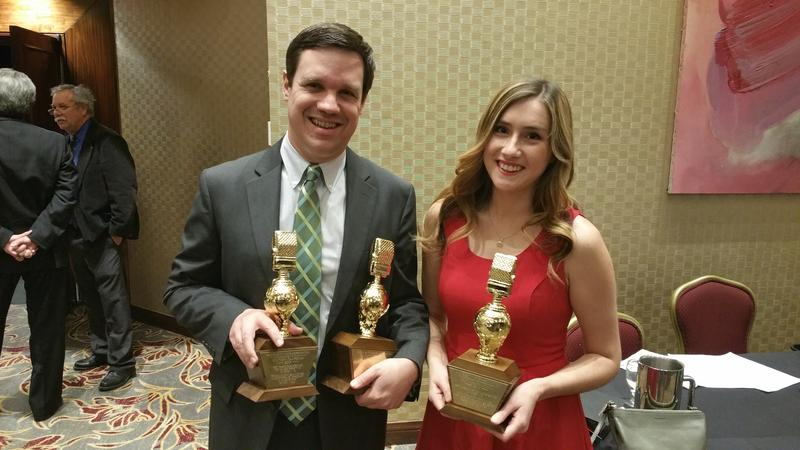 KVPR's Joe Moore and Diana Aguilera accepted the awards at a banquet in Los Angeles in January