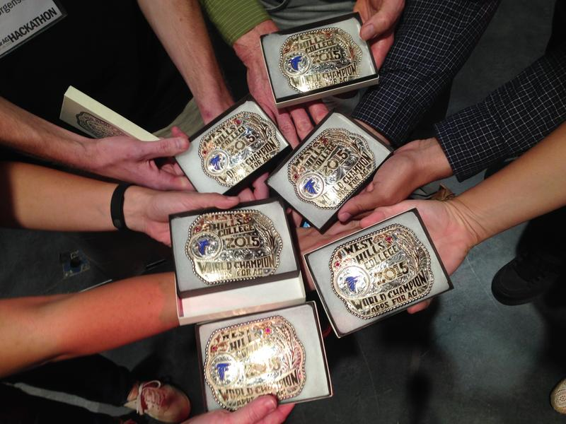 The SWARM team won the competition and received a belt buckle as well as an opportunity to speak with industry experts.