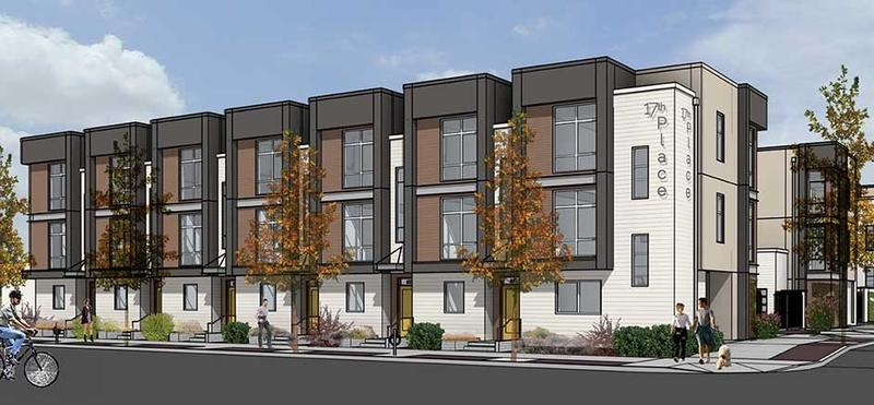 The 3 story, 44-unit townhome complex hopes to tap into the demand for downtown housing.
