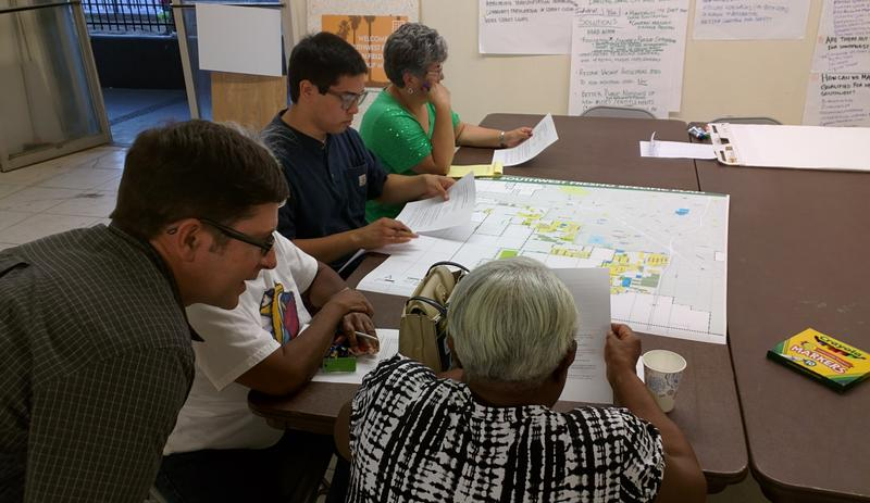 Residents talk over their wants with planners