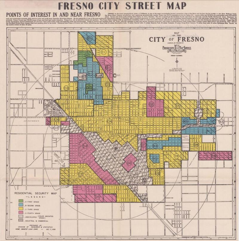 rare maps reveal fresno s overlooked history of segregation