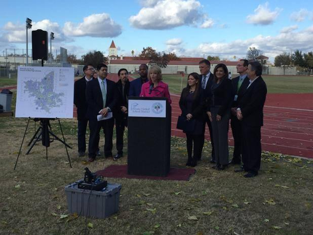 Fresno Mayor Ashley Swearengin announces the new plan to open school campuses on weekend