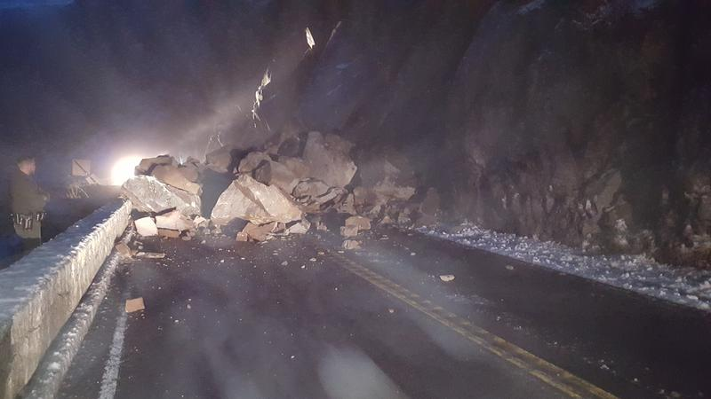 A rockfall has closed Highway 140 into Yosemite National Park