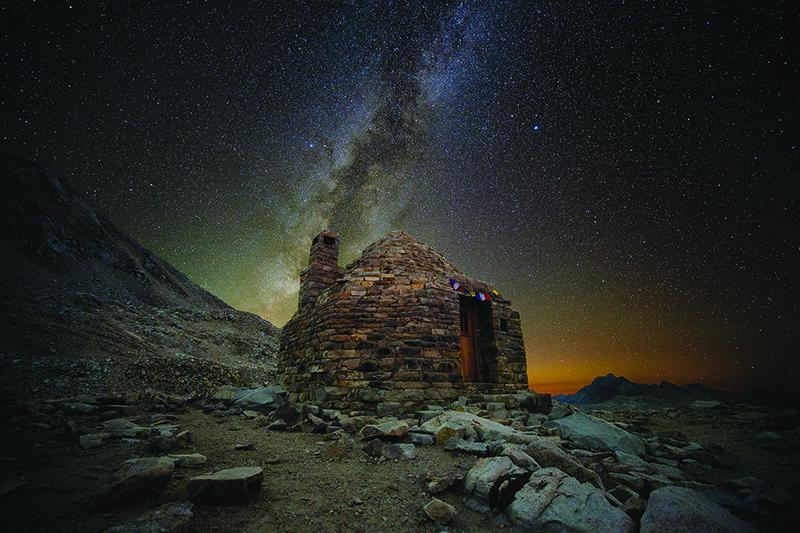 John Muir Hut under the Milky Way