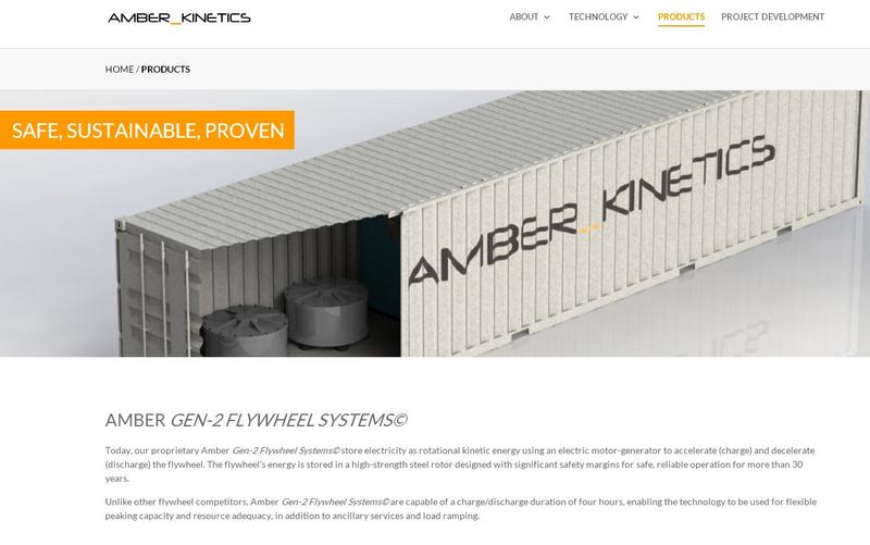 Amber Kinetics plans use use a flywheel to store surplus energy by spinning at high speeds.